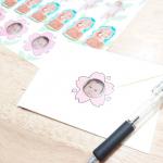 もうすぐ母の誕生日なのでお手紙書きました♥封筒に貼ったシールは息子のシール🤭アプリ【みんなのシール】で作ったものです。息子のシール以外にもペットのシールを作らせていただきました…のInstagram画像
