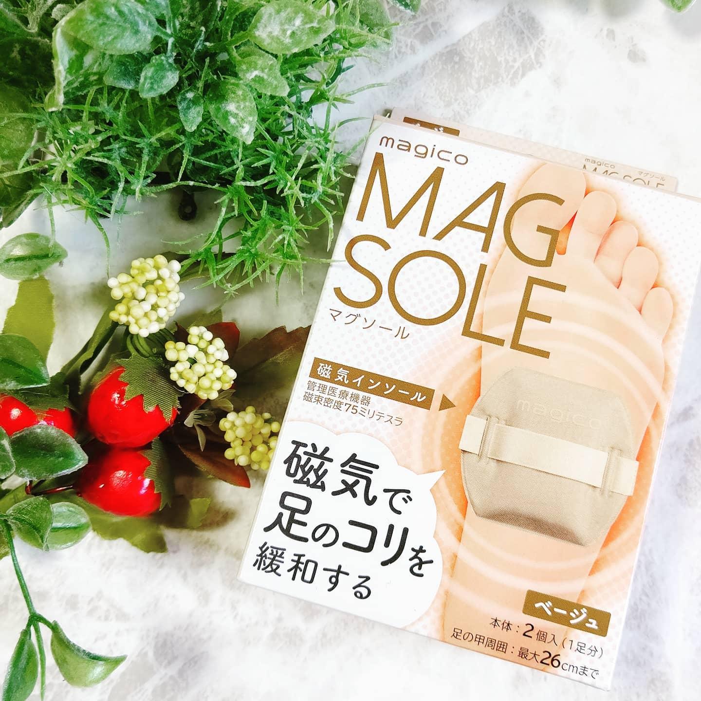 口コミ投稿:『magicoマグソール / 中山式産業🎵』足裏からじんわりと血行を促進。足裏専用のやわ…
