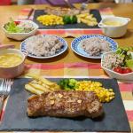 たまにはご飯を上げてみます🥢昨夜は #ステーキ にしました!ご飯は久しぶりに雑穀米を使ってみましたよー❁今回使ったのは株式会社玄米酵素さまのもの。2合のお米に混ぜて炊くだけ…のInstagram画像