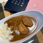 カレーに豚肉がごろっとはいってる!カレーの味は優しすぎて、和田には物足りないかなー😅#五島の鯛で出汁をとったプレミアムな高級カレー #ごと #五島 #monipla #nagasakigoto…のInstagram画像