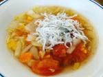 #しらす#具沢山スープ #母の日 #まで後1ヶ月 #野菜をMOTTO #野菜をもっと #スープ #レンジ #カップスープ #モンマルシェ #簡単 #野菜 #時短 #備蓄 #子ど…のInstagram画像