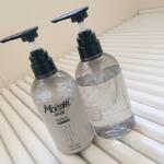 モッチスキンシャンプー&トリートメント❇️髪質を改善ケアしてくれます。ホワイトフローラルの香りが結構強めでいい香り~きめ細かい泡がたち優しい洗い心地。洗いながら香りにリラックス🎼…のInstagram画像