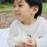 「おにぎり美味しくてにんまり」▶ごはん彩々「お米を食べている笑顔写真」募集!/第2弾の投稿画像