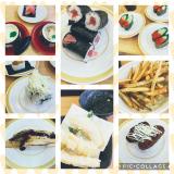 今日のお昼ご飯はかっぱ寿司の画像(1枚目)