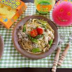 ♡今日の#お昼ごはん🍳アスパラとシラスのパスタ味付けは、醤油、ニンニク、そしてまたまた天塩さん( @ako_kasei )の#まろやか塩レモン 🍋✨今日は少し掃除しまし…のInstagram画像