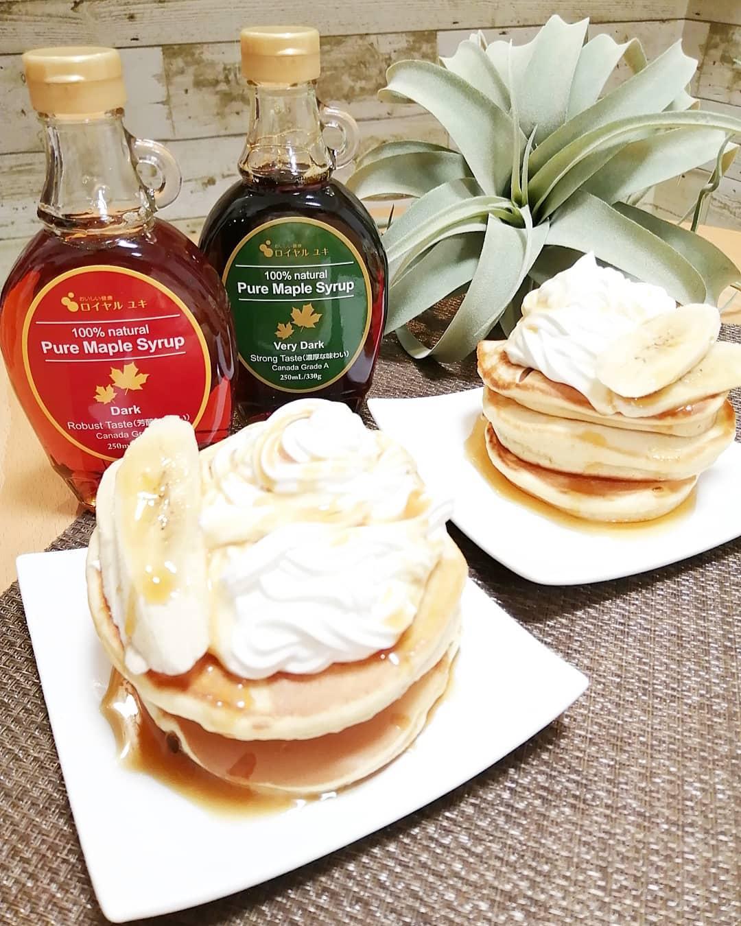 口コミ投稿:本場カナダ・ケベック州より直輸入の100%天然の甘味料「メープルシロップ2種類を使っ…