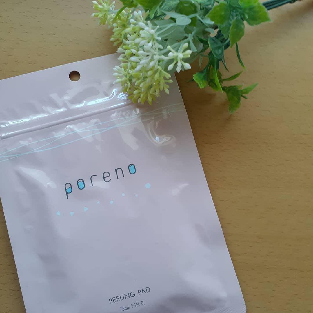 口コミ投稿:poreno(ポアノ)ピーリングパッドポアノは、忙しい朝の救世主のようなシートで洗顔…