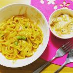 トマトパスタとチーズグラタンを作りました♡ホワイトソースやトマトソースは市販の物を使って時短!なかなかゆっくり外出して食事も難しいご時世なので、お家ご飯はリッチに楽しみたいですね💕#sma…のInstagram画像