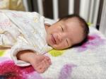 新生児微笑♡気持ちよさそーに寝てる時ににこっとされるのたまらん❤︎一瞬の出来事やから写真撮れるの貴重❤︎#新生児微笑 #新生児#寝顔 #新生児#生後0ヶ月  #ベビーモデル…のInstagram画像