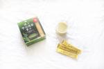 .@happinessdirect_official  さまの極上宇治抹茶青汁🍵.こちらを使ってパンナコッタ🤍.普段は健康の為に牛乳に溶かして飲んでるよ🐮.ビタミン…のInstagram画像