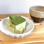 【夏のおやつ】暑い日のおやつはグリーンティーミルク寒天!昆布茶で有名な玉露園の『濃いグリーンティー』を使って簡単なおやつを作りました♪…のInstagram画像