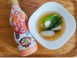 マルサンアイの液体味噌とチバノサトで頂いた新鮮長ネギでお味噌汁〜お出汁の旨味と長ネギの甘みで、シンプルなのにとっても美味しかった☺️鮮度ボトルは開封してもずっと美味しいままで、発売時からリ…のInstagram画像