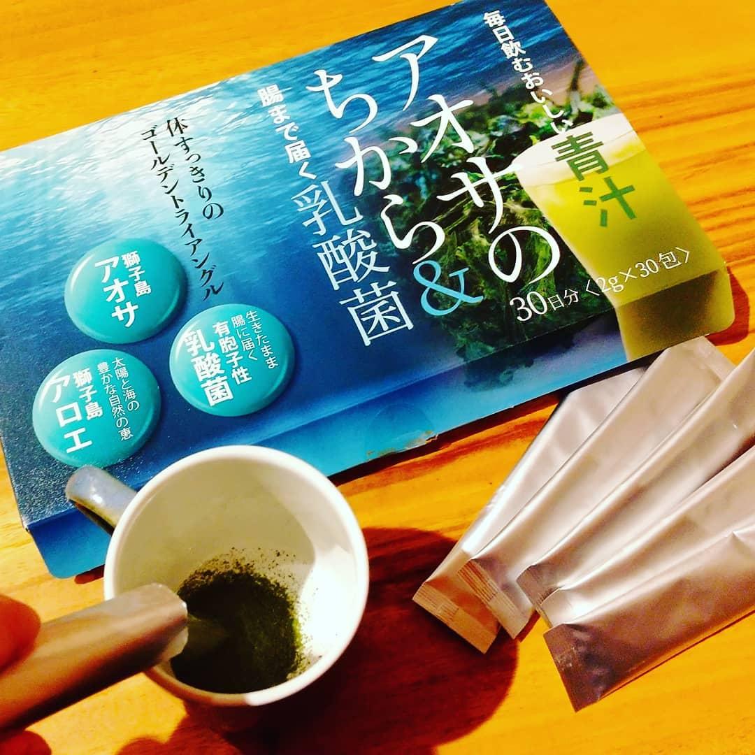 口コミ投稿:「アオサのちから&乳酸菌」・いわゆる青汁? と思って飲んでみたら…・海苔の味がする…