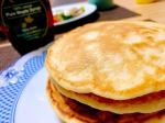 休日朝ごはん#お豆腐パンケーキ*レシピあり@kefirfan さんからメープルシロップ頂いたのでパンケーキ🥞上からもかけましたが生地にも入れてます🇨🇦ケベックか…のInstagram画像