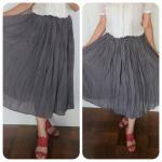 ニッセンさん@nissen_ladies_officialの「ふわり軽い楊柳スカート」をモニターさせて頂きました。ふわりとした柔らかい生地で軽やかな感じです。ウエストゴムでとっても楽。…のInstagram画像