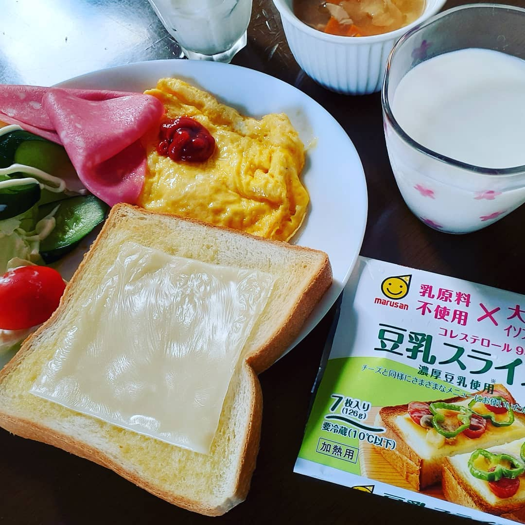口コミ投稿:#マルサン #マルサンアイ #豆乳スライス #豆乳チーズタイプ #乳原料不使用 #コレステ…