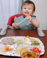 ❤︎❤︎❤︎0歳ラストmonthの11ヶ月🐣先日からデンマークのベビーキッズブランドDone by Deerのオシャレなお食事プレートを使ってお子様ランチ風にして食べています🍴💖ワ…のInstagram画像