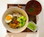 オクラと納豆と雑穀米で晩ご飯^ ^朝ごはんみたいですね🍙スープは、のどぐろスープ🥰最近飲み始めたハイ・ゲンキ スピルリナを添えて。食べすぎ飲み過…のInstagram画像