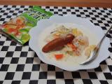 栄養満点♪ ウインナーソーセージとたっぷり野菜のミルクスープの画像(1枚目)