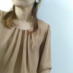 \今日は中秋の名月🌝/お団子🍡用意しとかなきゃー。キレイなお月様見れるかな.。*♡お洋服も秋っぽくなりますね( ◜‿◝ )胸元のタックがお気に入りのnissenの愛されブラウス…のInstagram画像