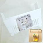 ♔.❄️ ハンギングバスラック♡𝑆𝑖𝑧𝑒 幅𝟸𝟹.𝟹𝑐𝑚×奥行𝟷𝟷.𝟿𝑐𝑚×高さ𝟹𝟶.𝟷𝑐𝑚便利グッズでおなじみのイノマタ化学さんの新商品❣️お風呂グッズを浮かして収納できるスッキ…のInstagram画像