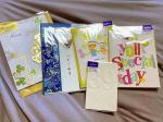 ホールマークさんのカードプレゼントに当選しました𓂃 𓈒𓏸𑁍可愛いカードに包が全部で5点も┈♡゙嬉しいꔛありがとうございました♡̢#ホールマークのカード#当選品#文…のInstagram画像