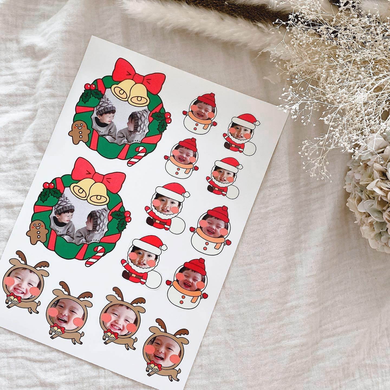 口コミ投稿:❁敬老の日のタイミングで見つけて気になってた@minnano_seal で一足先にクリスマス用…
