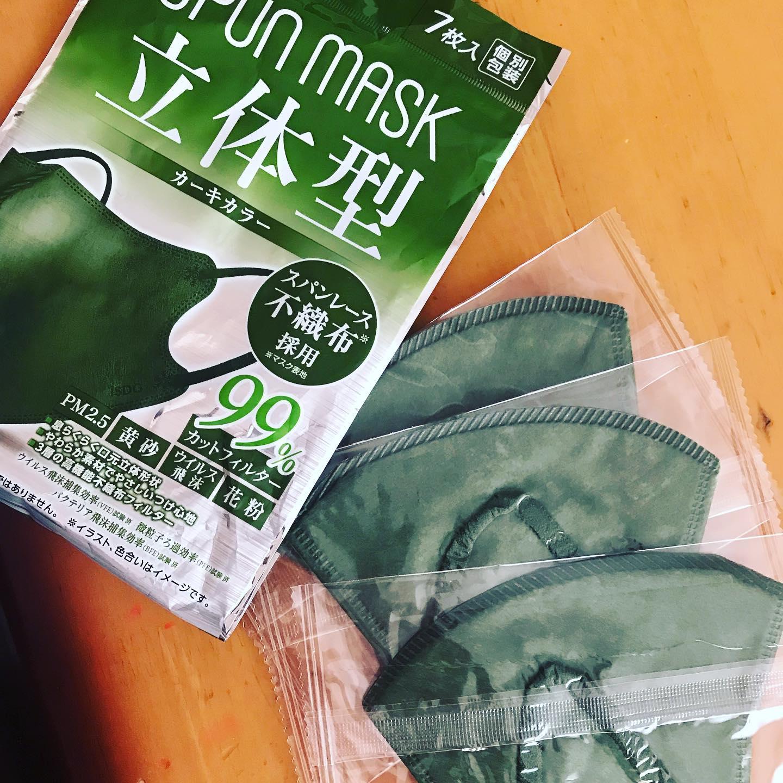 口コミ投稿:SPUNMASKさんの立体型マスクのカーキを試しました♡最初届いた時はこの色私着けれるか…