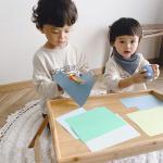 ❁雨の日の おうち時間 🐌⋆̩☂︎*̣̩・先月の幼稚園の製作がハサミを使った作品だったからいつもの『線と絵あそび』にハサミとノリを使った『切り貼りあそび』も取り入れてみたよ☺️✂️…のInstagram画像