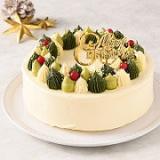 「【公開冷凍配送テスト】仮称クリスマスのリース<バタークリームケーキ>」の画像(1枚目)