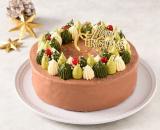 「クリスマスのリース(チョコ)<バタークリームケーキ>」の画像(1枚目)