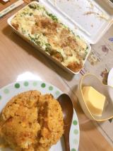 炭水化物な晩飯の画像(1枚目)