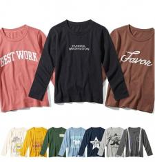 株式会社ニッセンの取り扱い商品「10柄から選べるプリント長袖Tシャツ」の画像