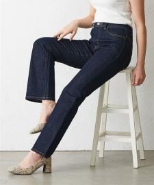 株式会社ニッセンの取り扱い商品「小さいサイズ ブーツカットデニムパンツ(タテヨコストレッチジーンズ)」の画像