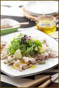 【おすすめレシピ】ほうれん草と豚しゃぶのフルーティサラダ