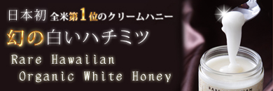 日本初上陸!幻の白いハチミツ!