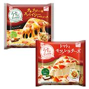 マルハニチロ株式会社の取り扱い商品「「チョリソー&スパイシートマトソース」   「トマトとモツァレラチーズ」」の画像