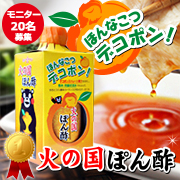 「極上のまろやかさ!九州のデコポン果汁たっぷり!火の国ポン酢 モニター20名募集」の画像、ホシサン株式会社のモニター・サンプル企画