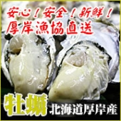 安心!安全!新鮮!北海道厚岸産 生牡蠣