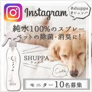 【インスタ投稿】ペットの除菌消臭スプレー SHUPPA モニター10名様募集!