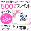 【クオカード500円】サプリメントのアンケート3名様♪ 20/モニター・サンプル企画