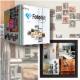 家の壁と写真をデザインする スクエア型ドッキングフォトフレーム「Fotobit」