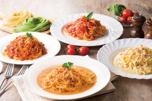 【ポポラマーマ】生スパゲティ&バラエティソース4食セット