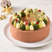 「【公開冷凍配送テスト】仮称クリスマスのリース(チョコ)<バタークリームケーキ>」の画像、株式会社コロンバンのモニター・サンプル企画