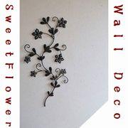 インテリア雑貨ELISE エリーゼ 可愛い小花のアイアン壁飾りをプレゼント!