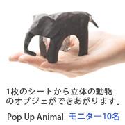 1枚のシートから立体の動物に。ポップアアニマル【10名】モニタ募集