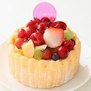 \4号のフルーツシャルロットケーキ/Instagramへ投稿【11名様募集】