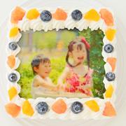 株式会社FLASHPARKの取り扱い商品「スクエア写真ケーキ 5号 15cm」の画像