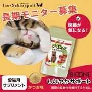 「愛猫用 バイオワンしなやかサポートのブログorインスタ投稿モニター10名様募集!」の画像、株式会社日本生物科学研究所のモニター・サンプル企画