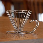 【おうちで美味しいコーヒーを】雑味を抑えたコーヒー抽出できるワイヤーフレーム!6杯分までのドリップができる『珈琲考具ドリッパー大』